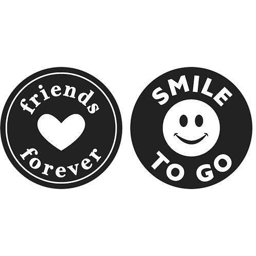 Labels friends..., Smile..., 30mm ø, SB-Btl 2Stück