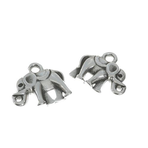 Anhänger Elefant mit Oese, 10x13mm, silber