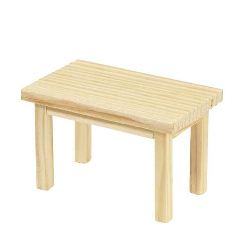 Tisch Holz rechteckig 8x5x5cm