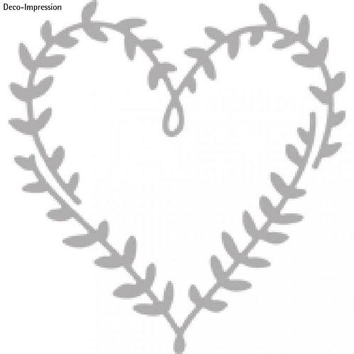 Stanzschablone Herz aus Blättern 6,3x6,6cm, SB-Btl 1Stück
