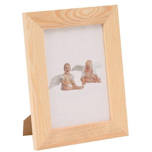 Holz Bilderrahmen mit Glas, Fuss und 2 Aufhänger