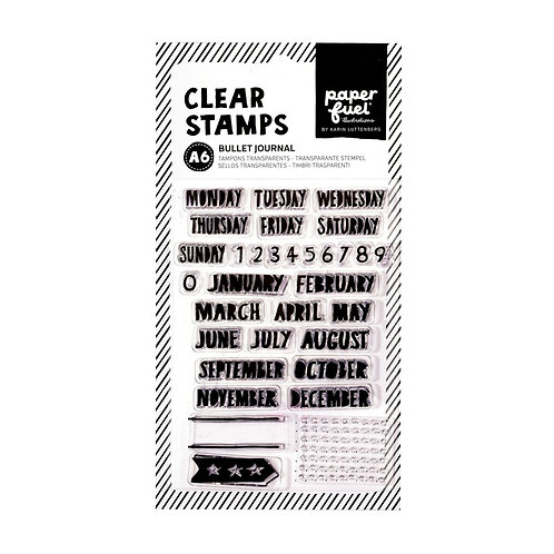 Paperfuel, Clear stamp A6 bullet journal