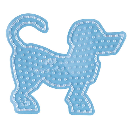Maxi Stiftplatte transparent - Hund (199 Stifte) 17x20cm