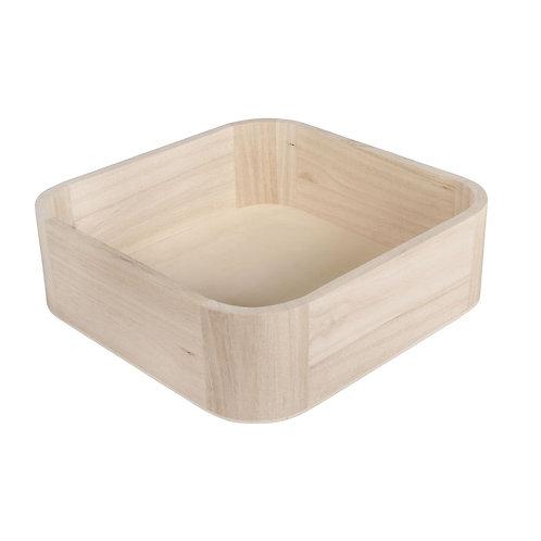 Holz Tray, FSC Mix Credit 19,5x19,5x6cm, mit abgerundeten Ecken