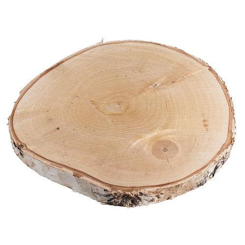 Birkenscheibe, 25-28cm ø Stärke 2,5cm