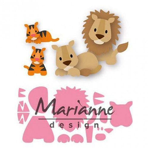 Marianne Design Collectables Stanzschablone Eline's Löwen und Tiger