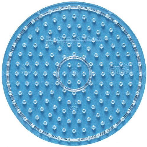 Maxi Stiftplatte transparent - Kreis (169 Stifte) 15.5x15.5cm
