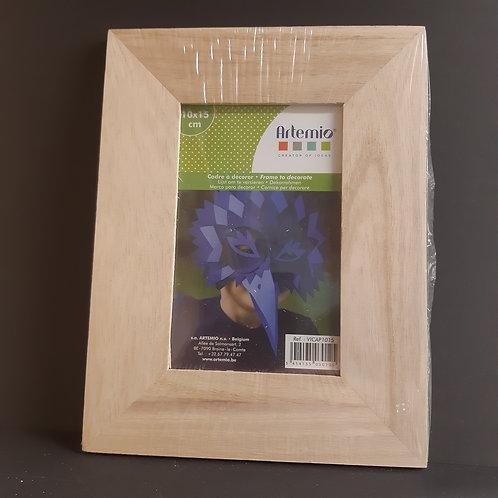 Holz Bilderrahmen mit Fuss oder zum Aufhängen 10x15cm