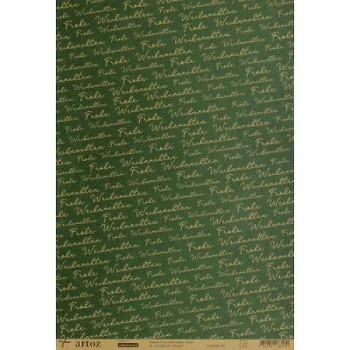 Artoz Papier selbstklebend, Frohe Weihnachten natur, A4 180gm2