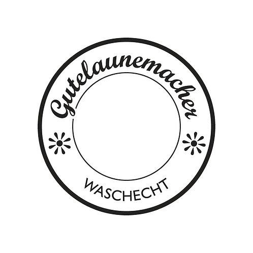 Holz Stempel Gutelaunemacher ..., 3cm ø