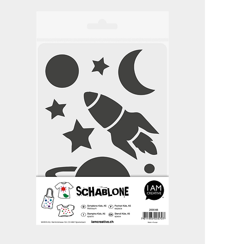 Schablone Kids DIN A5, Weltraum