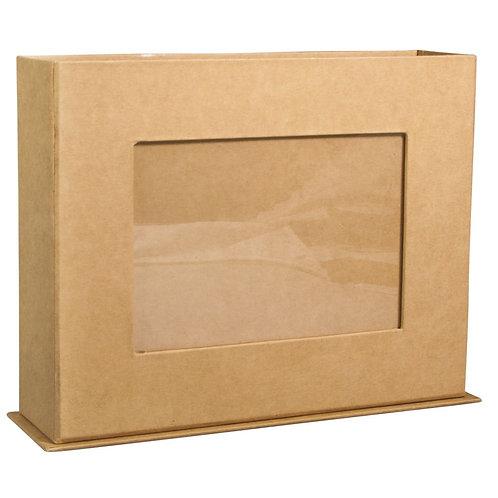 Pappm. Box mit Fotorahmen, FSC Rec.100% 19,5x5,5x15cm, f. Bildformat 9x13cm