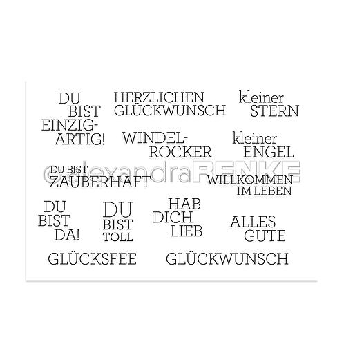 """Clear Stamp """"Beste Wünsche"""""""