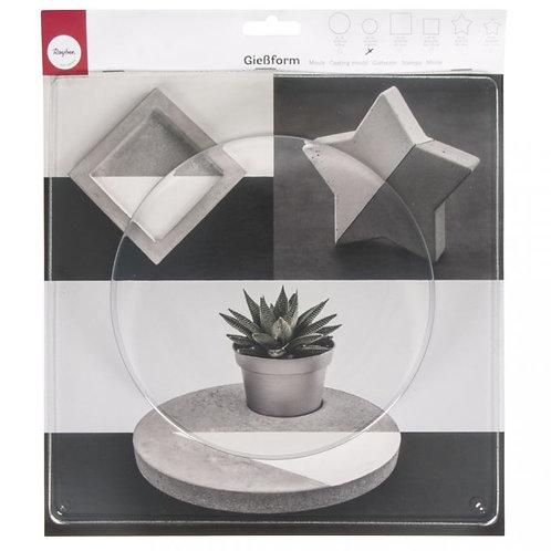 Giessform Kreis, 18,5cm ø Tiefe 3,5 cm
