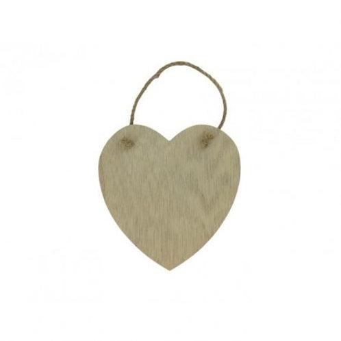Holz Herz zum Aufhängen 14x13.5cm natur
