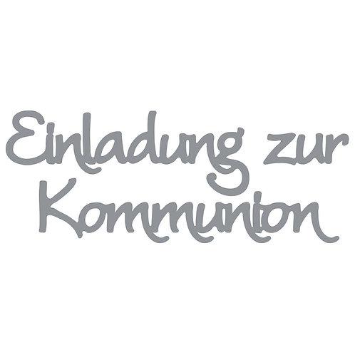 Klebeschrift Einladung zur Kommunion (9x) 10x23cm, Spiegelfolie