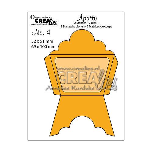 "Crealies  Aparto Stanzschablone no.4 ""Mini message 4"""