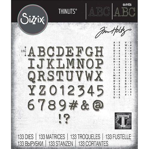 Sizzix Thinlits Alphanumerisch