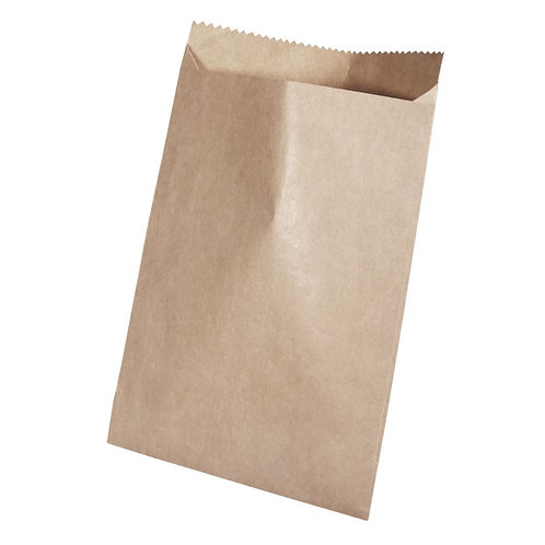 Papiertüte braun, Lebensmittelecht 9x13cm, 60g/m2, SB-Btl 20Stück