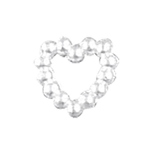 Plastik Perlenherz 1cm, SB-Btl 48Stück