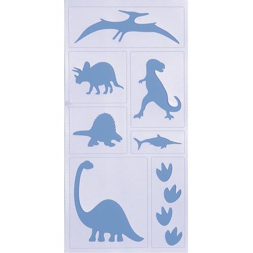 Malschablone haftend Dinosaurier 20x10cm