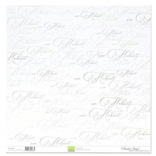 Vaessen Creative Papier Texte zur Hochzeit, 30.5x30.5cm