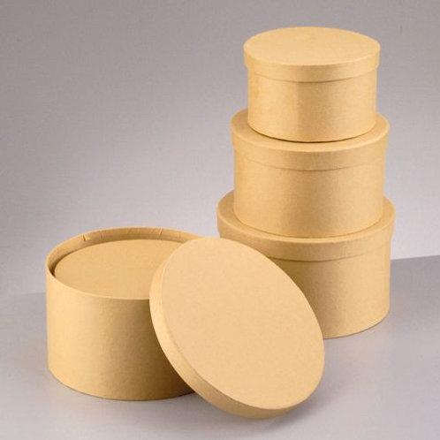 Set Boxen, rund, 19x11 / 16x9,5 / 14x7,5 cm, 3 - teilig