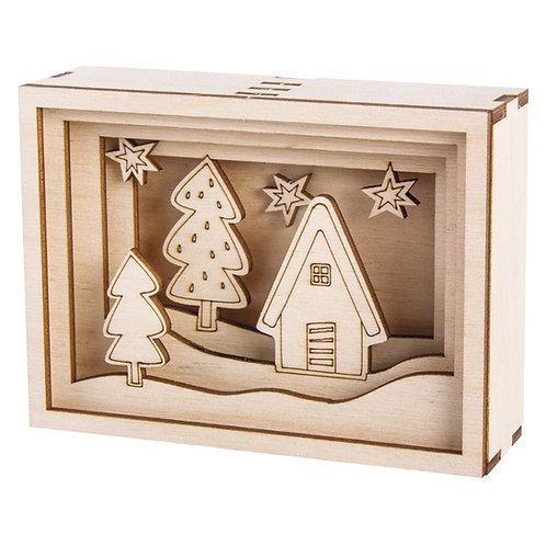 Holzbausatz 3D-Motivrahmen Mini, FSC100% 11,5x8,5x3,2cm, 11-tlg.