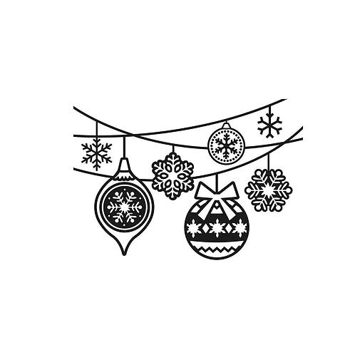 Darice Prägeschablone Weihnachtsornamente 10.7x14.6cm