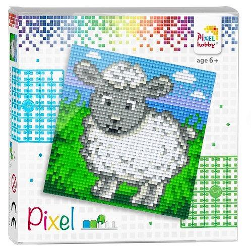 Pixel Set Quadrat Schaf - Bild aus 4 kleinen quadratischen Grundplatten