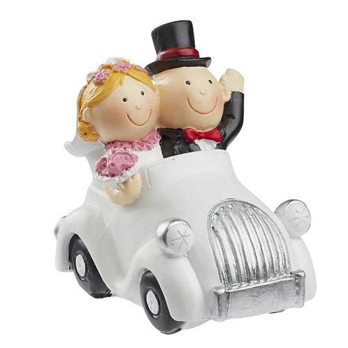 Hochzeitspaar im Auto 7x4cm
