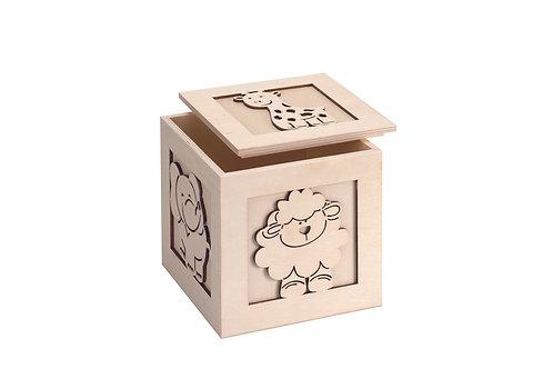 Holzwürfel Tiermotive