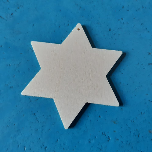Stern 6-Zack 7cm Pappelsperrholz