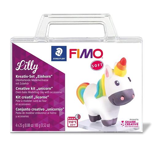 FIMO soft Set im Koffer Einhorn