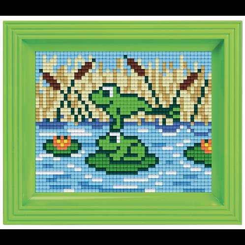 Pixelbild Set Frösche - mit Rahmen
