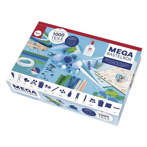 Mega Bastelbox Space 1.000 Teile weiß/blau/grün Töne, Box