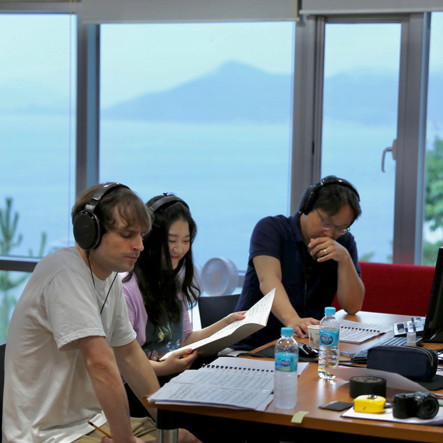 Recording session in Tongyeong