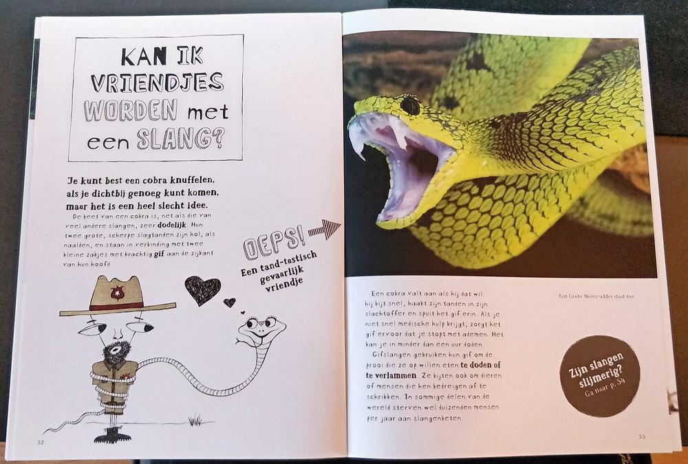 Bladzijde uit kinderboek Waarom verdrinken vissen niet?