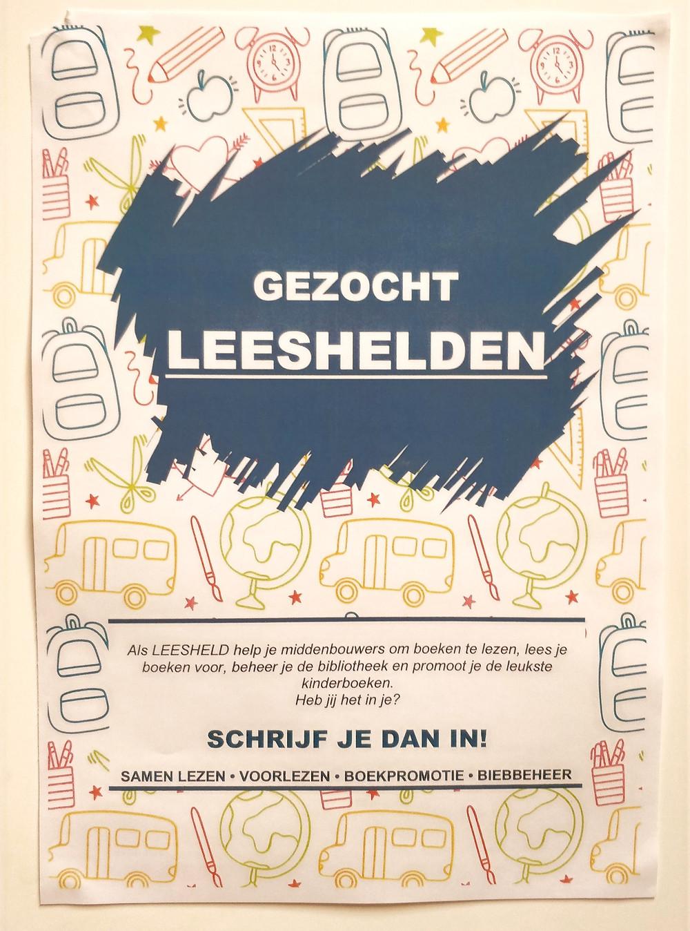 Poster over een leesclub in de bovenbouw