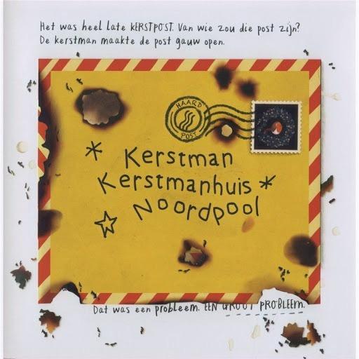 Bladzijde van het boek kerstpost van veltman uitgeverij