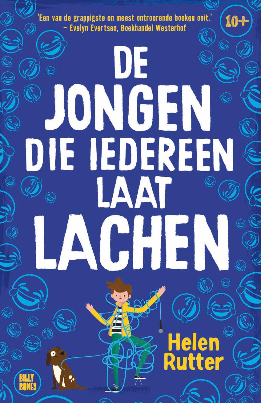 Het boek De Jongen die iedereen laat lachen