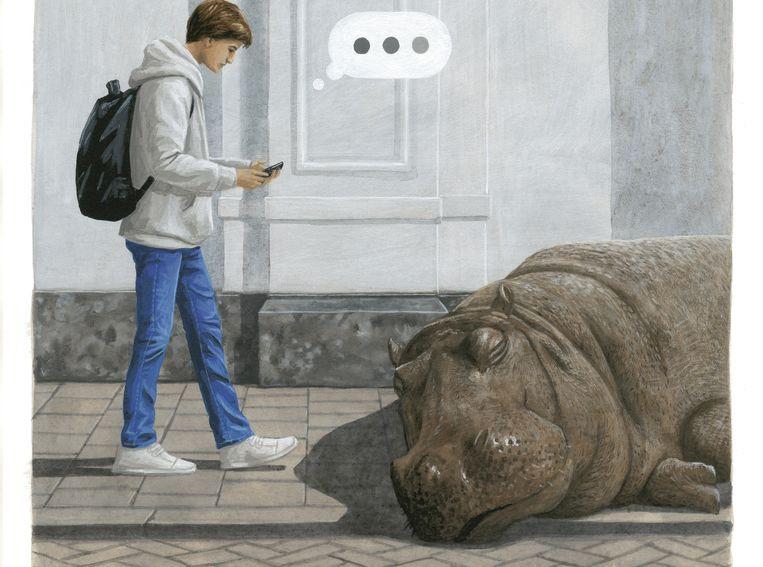 Plaat uit Wat moet je doen als je over een nijlpaard struikelt