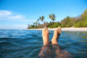 Les pieds dans l'océan