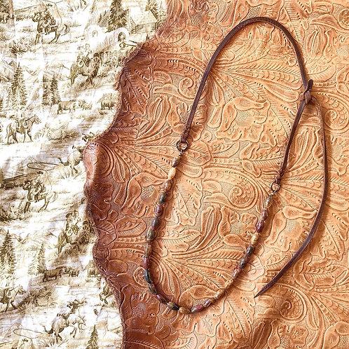 Red Creek Jasper Bosal Hanger Necklace