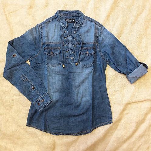 Pullover Denim Shirt