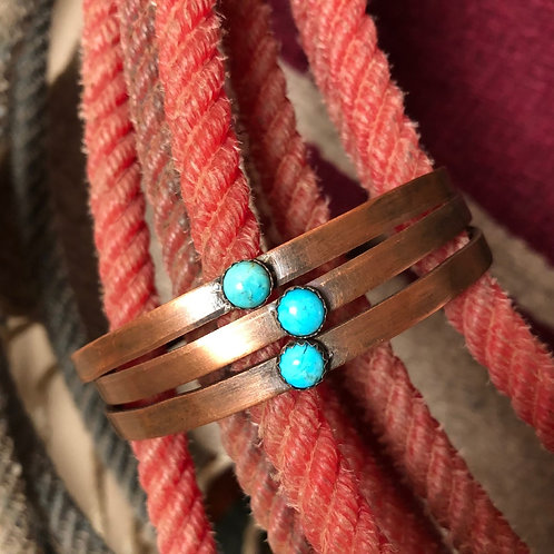 Dirt Road Girls Stackable Turquoise Cuffs