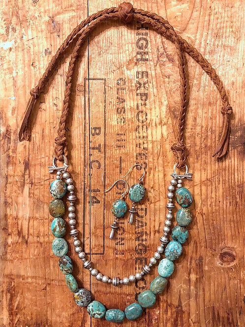 Turquoise & Steel Necklace