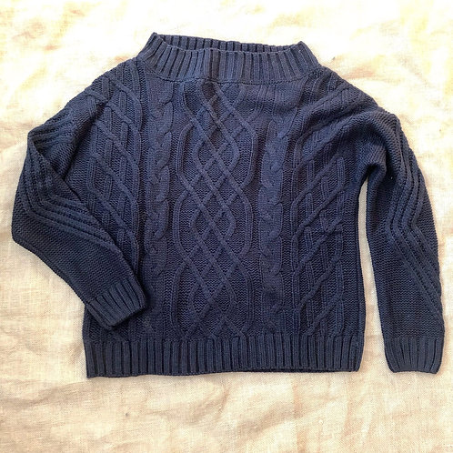 Boatneck Cable Knit Sweater