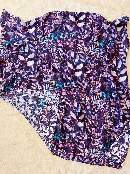"""44"""" Purple Leaf Scarf"""