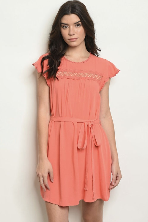 Coral dress